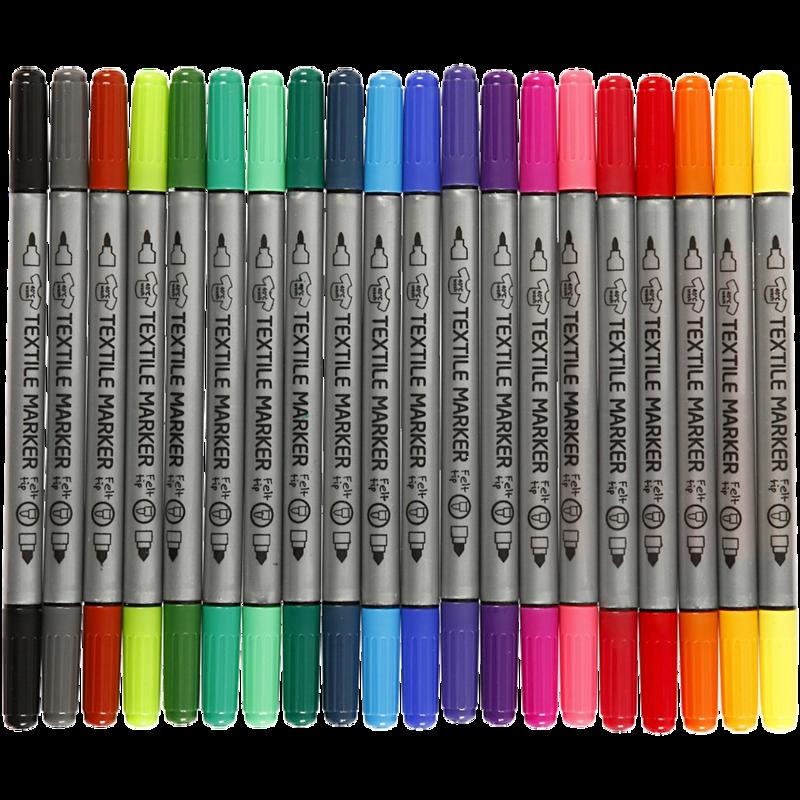 FLOMASTRI ZA TEKSTIL 1/20 TWIN barvni 10791