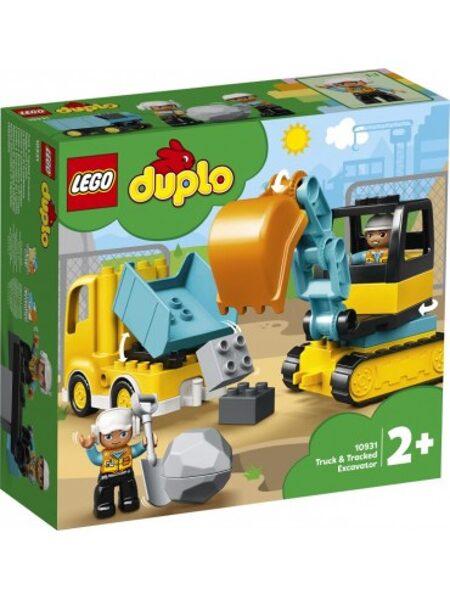 Lego Duplo 10931 Tovornjak in bager na gosenicah