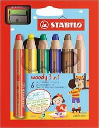 BARVICE STABILO WOODY 1/6, 3 v 1 (aquarel, voščenka in barvica za steklo) 948