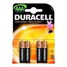 BATERIJE Duracel 4 kosi  AAA  LR03 5598