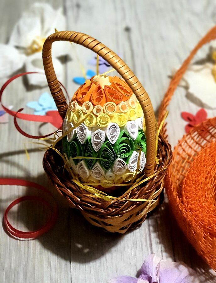 Quilling velikonočni jajčki